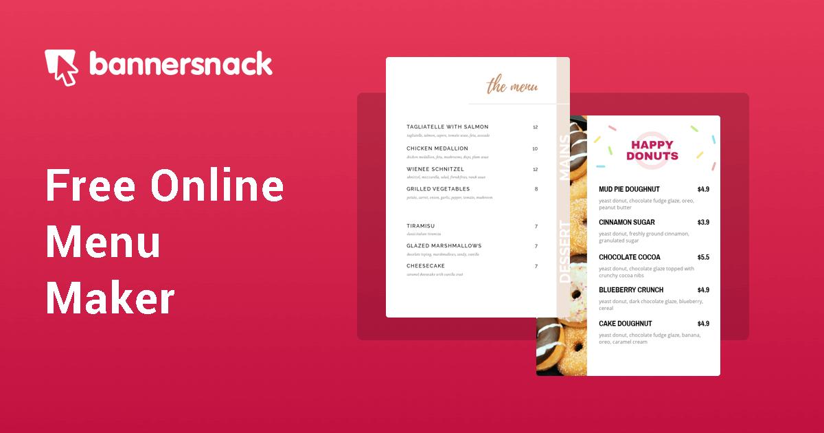 Menù ristoranti online